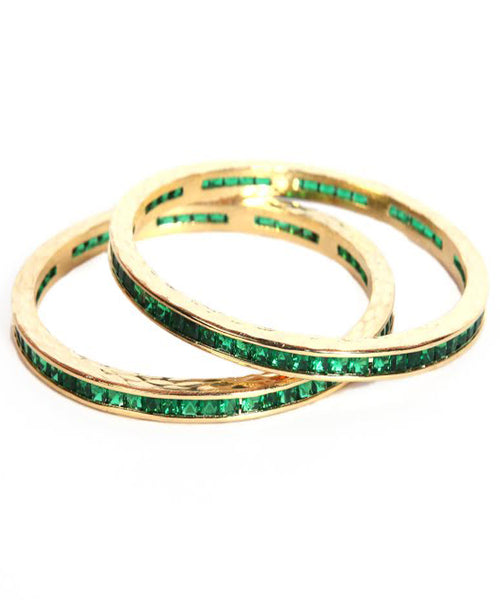 Designer Deep Green Bangles Set