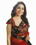Bollywood Madhuri Red Saree