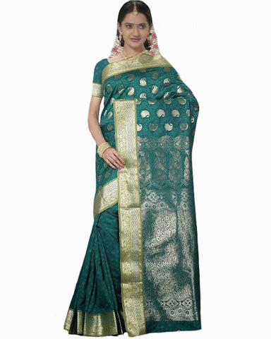 Green Color Dharmavaram Saree