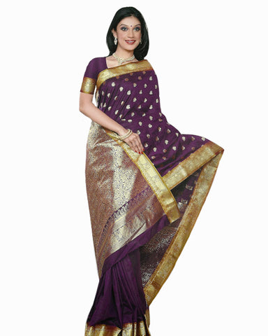 Purple Color Dharmavaram Saree