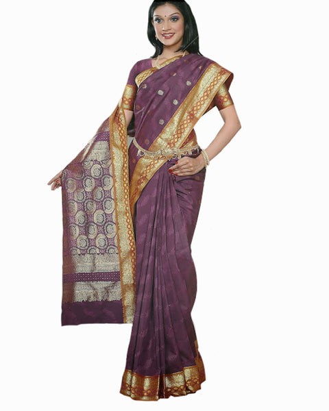 Onion Color Dharmavaram Saree