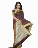 Chocolate Color Dharmavaram Saree