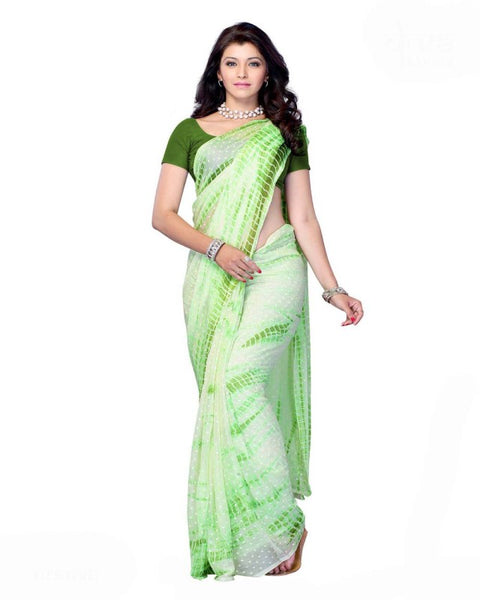 Green Color Bandhni Saree