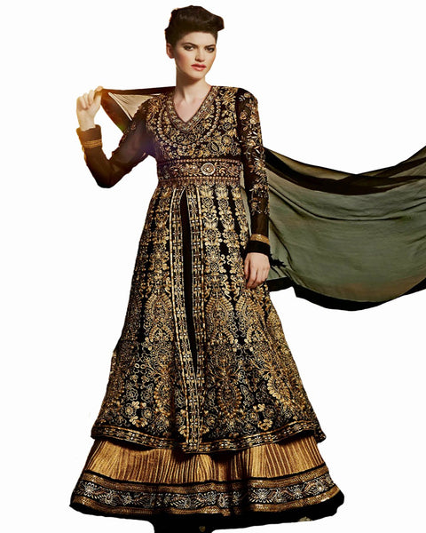 Ethnic Designer Black Color Long Length Suit