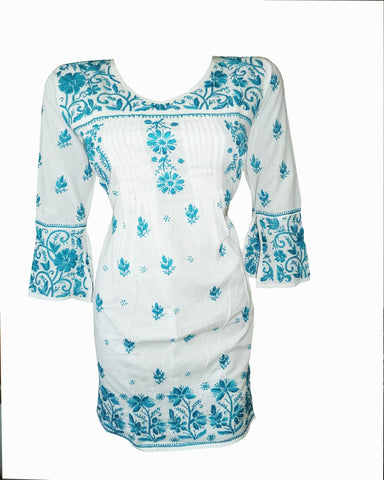 White Color Chikankari Cotton Kurti