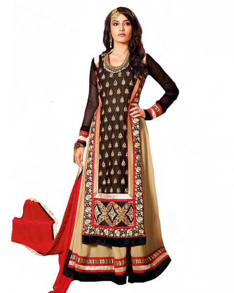 Designer Black/Beige Color Pakistani Suit