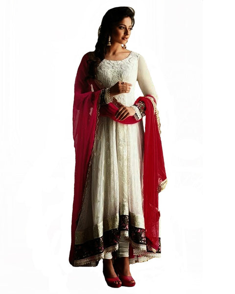 Designer Cream Color pakistani Suit