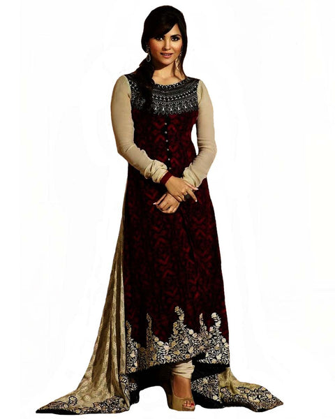 Maroon Color Long Length pakistani Suit