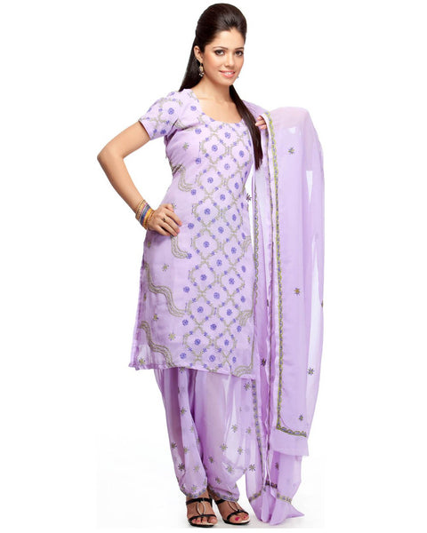 Purple Color Chikankari Salwar Suit