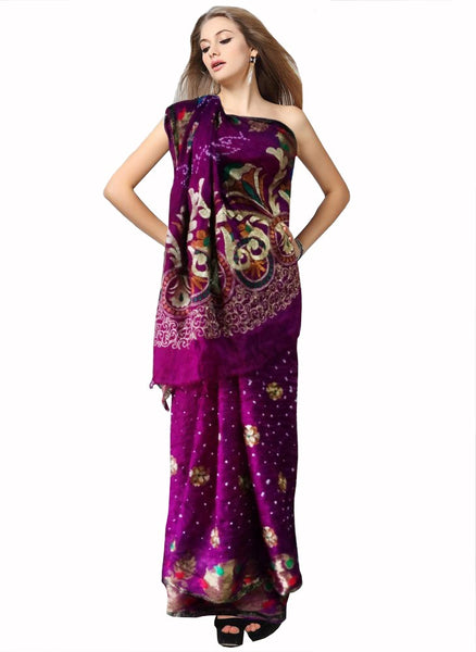 Purple Color Bandhni Saree