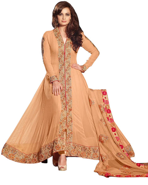 Bollywood peach Color Long Length Pakistani Suit