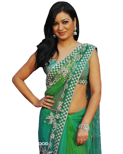 Bollywood Celebrity in Shaded Green Saree