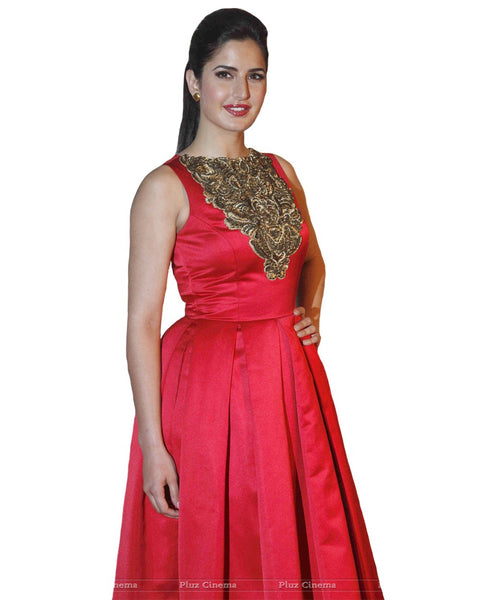 Bollywood Katrina in red Color Dress