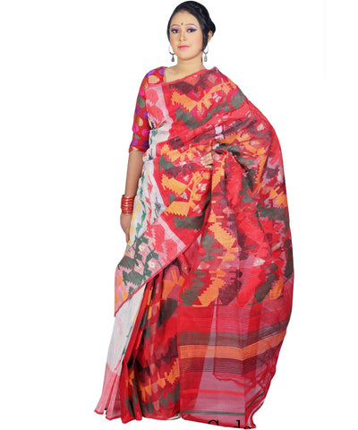 Traditional Multi Shade Jamdani Saree