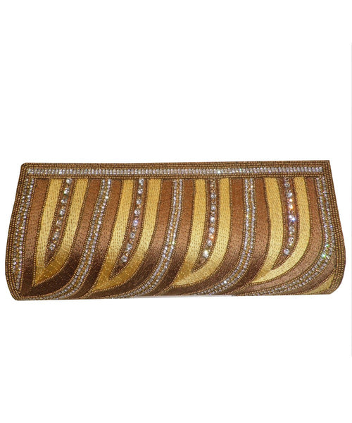 Designer Golden Color Clutch Purse