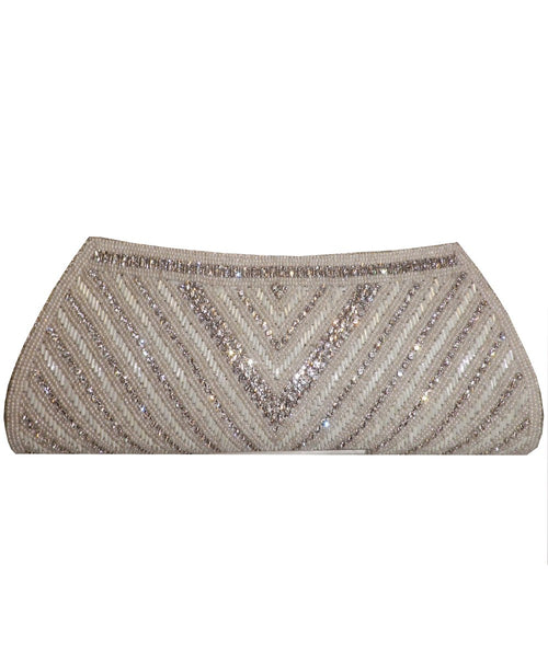 Designer White Color Clutch Purse