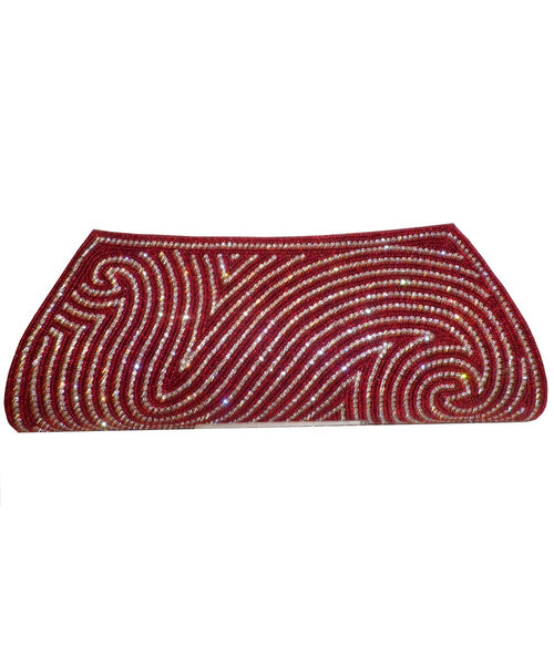 Designer Red Color Clutch Purse