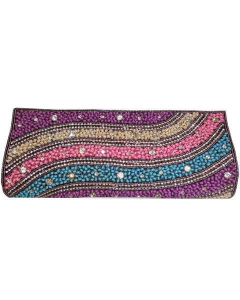 Designer Multi Color Clutch Purse