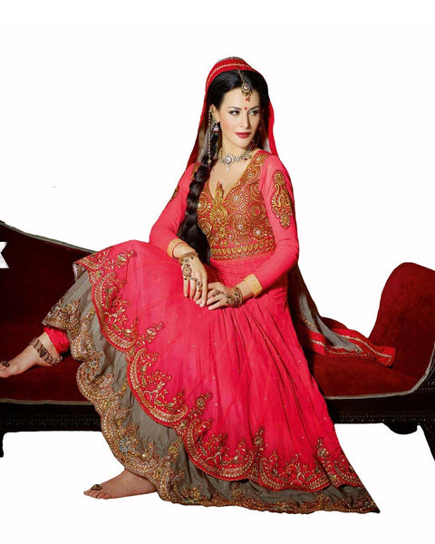Gorgeous Deep Peach Anarkali Suit