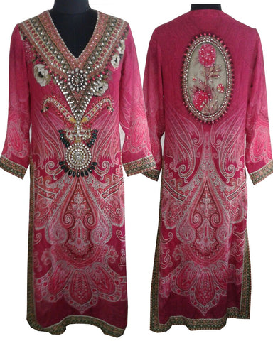 Pink Color Digital Print Kurti Cum Salwar Suit
