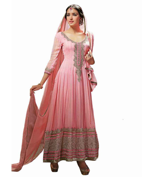 Pink Color Long Anarkali Suit