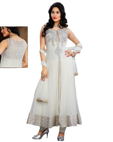 Designer Off White Salwar Suit
