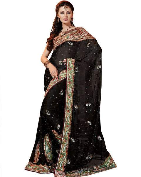 Heavy Black Saree