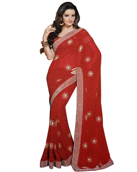Heavy Red Saree