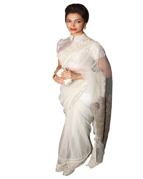 White Color Deepika Saree
