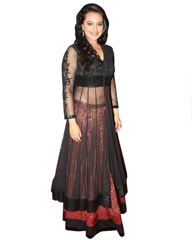 Sonakshi Black Color Dress