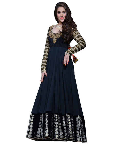 Bollywood Nevy Color Long Dress