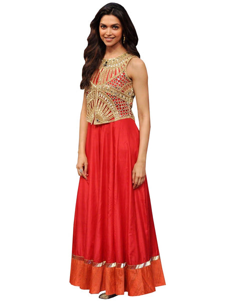 Deepika Red Color Long Dress
