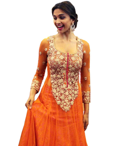 Deepika Orange Color Suit