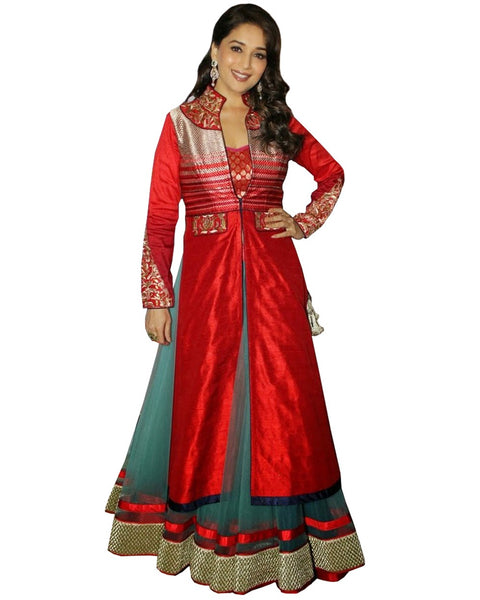 Madhuri Red Color Long Dress