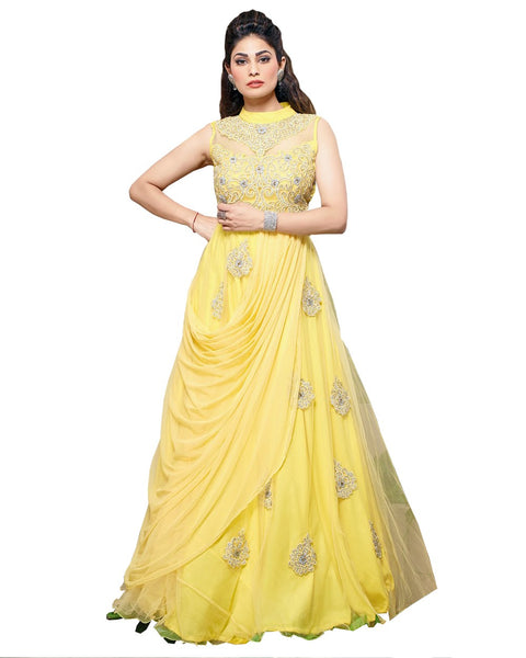 Ethnic Yellow Gown
