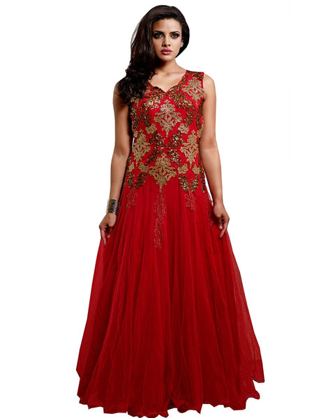 Exclusive Red Party Wear Gown
