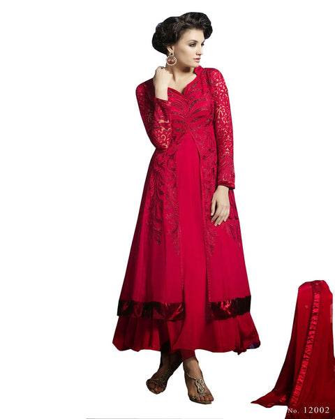 Designer Red Frock Suit