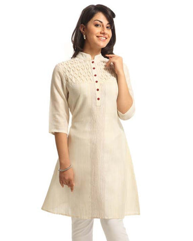 Trendy Look Cream Kurti