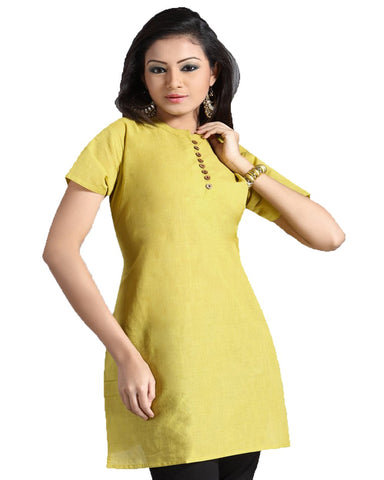 Trendy Look Yellow Kurti