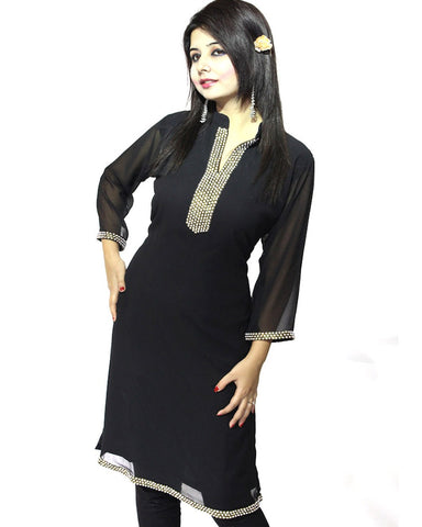 Trendy Look Black Kurti