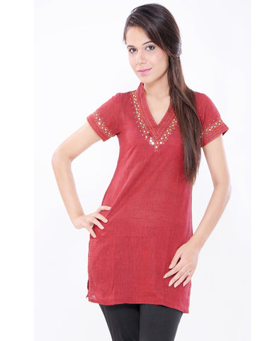 Trendy Look Red Kurti