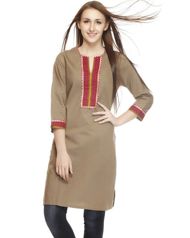 Trendy Look Light Brown Kurti