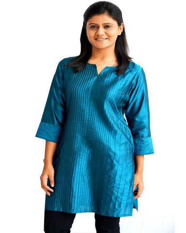Trendy Look Dark Blue Kurti