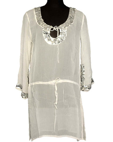Trendy Look Off White Kurti