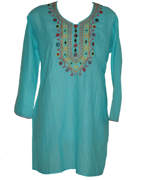 Trendy Look Sky Blue Kurti