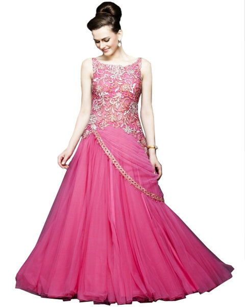 Designer Pink Party Dress