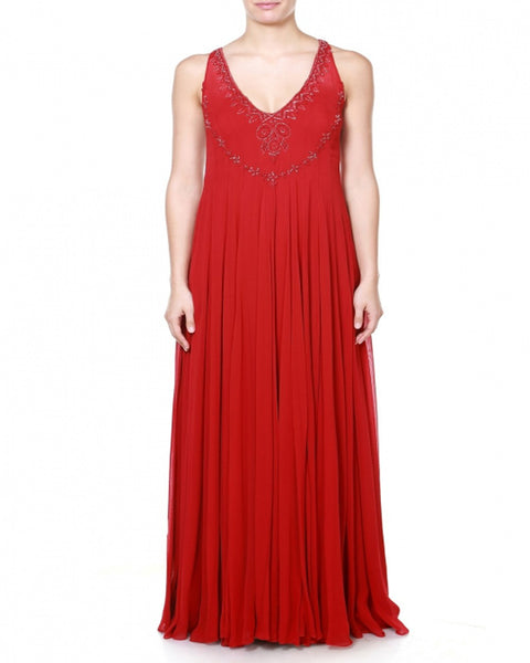 Designer Red Party Dress