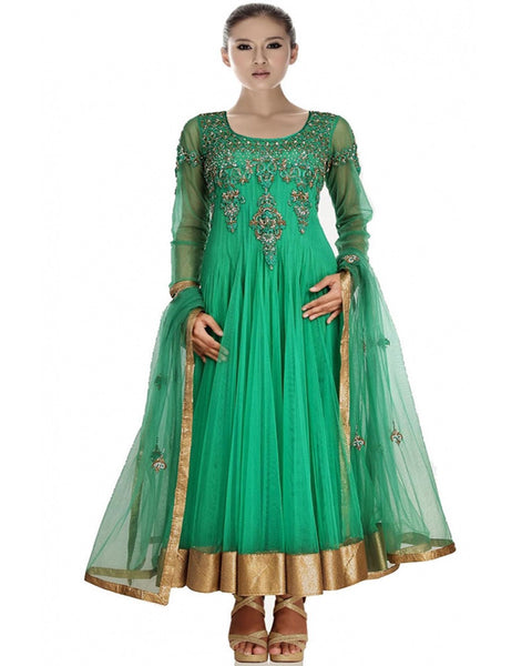 Designer Dark Green Salwar Suit