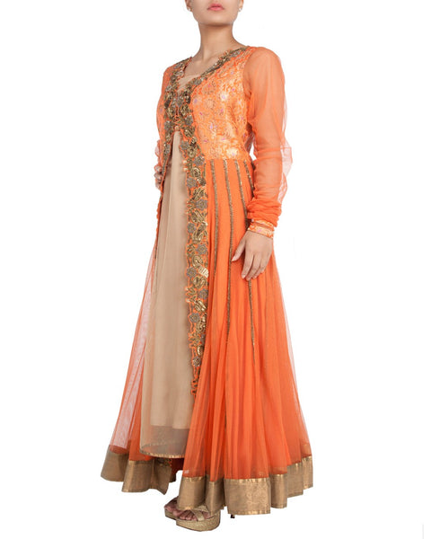 Designer Orange Salwar Suit
