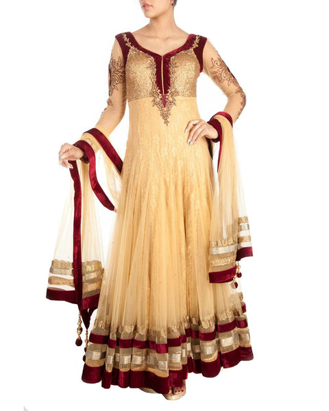 Designer Cream Salwar Suit